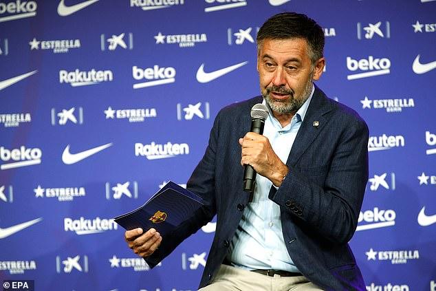 Reports suggest he told Koeman he has no faith in the club's president Josep Bartomeu