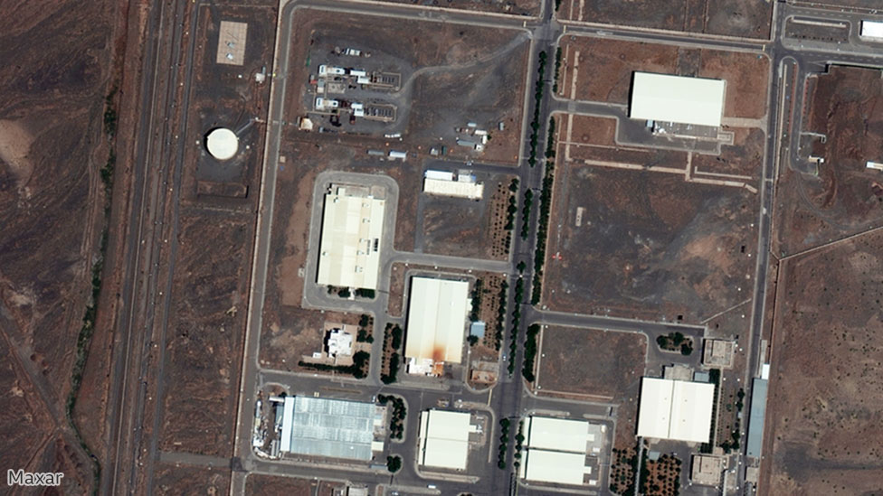 Satellite image showing the nuclear facility in Natanz, Iran, 29 June 2020. Image by Maxar