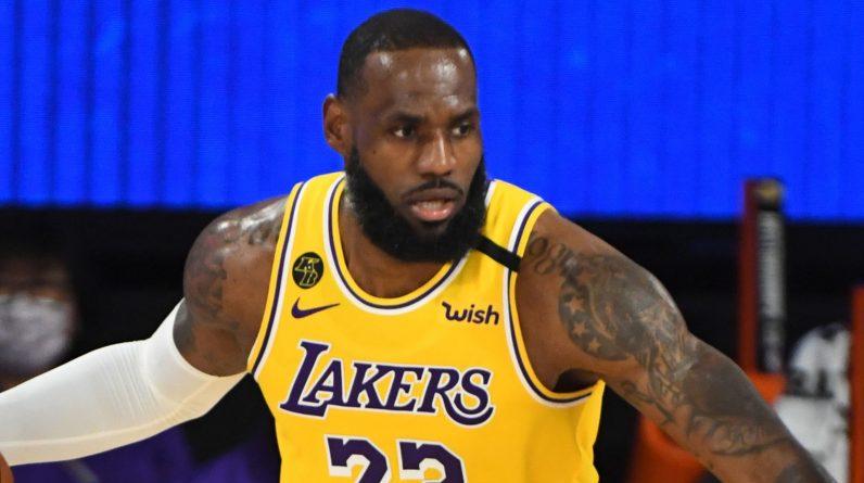 LeBron James controls possession against the Magic