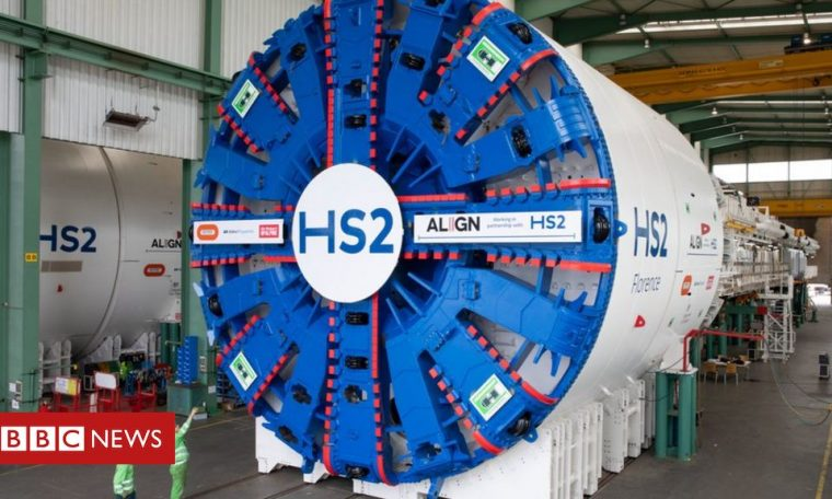 Giant machines for HS2's Chilterns tunnels unveiled