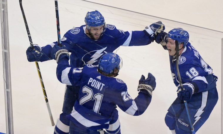 Brayden Point gives Lightning win over Blue Jackets after 5 overtimes; Joonas Korpisalo makes 85 saves