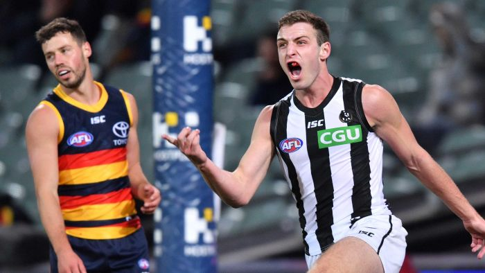 Collingwood beats Adelaide by 24 points to keep the Crows winless in 2020