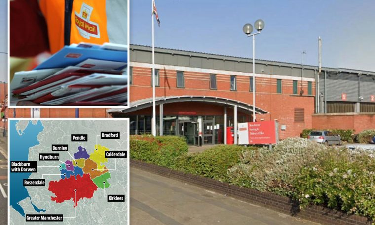 Coronavirus outbreak at Royal Mail delivery office in Manchester as '19 workers hit by bug'