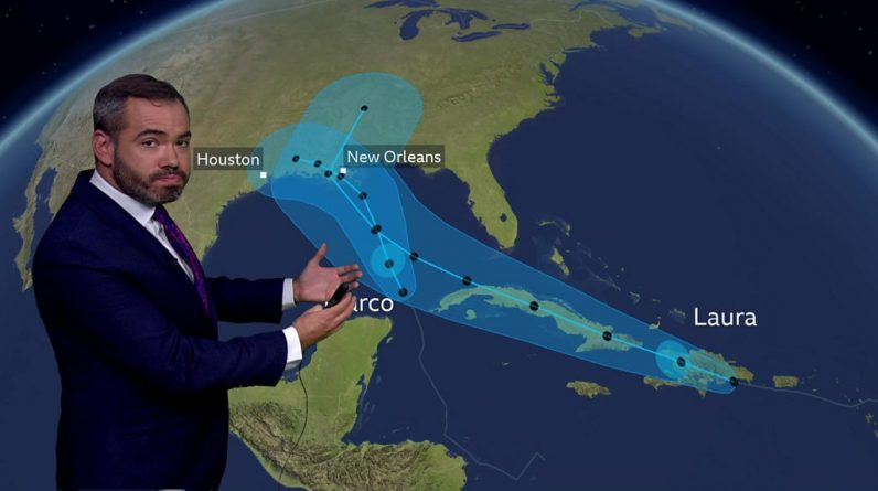 Thousands evacuated as two storms head for southern US