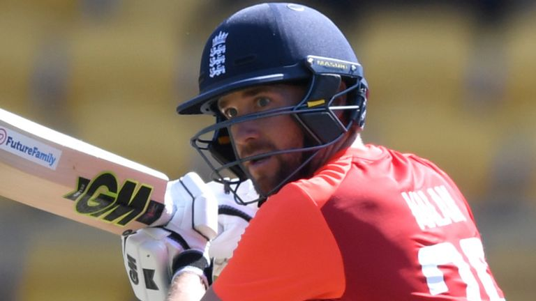Dawid Malan hit England's fastest T20I hundred, from 48 balls, in New Zealand last year
