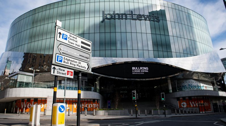 John Lewis confirms eight store closures including Birmingham flagship