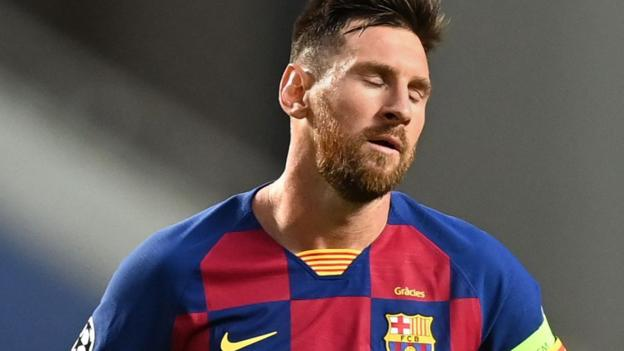 Lionel Messi hands in Barcelona transfer request