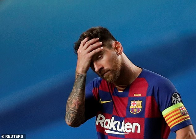 Lionel Messi (above) has told Ronald Koeman he has serious doubts about staying at Barcelona