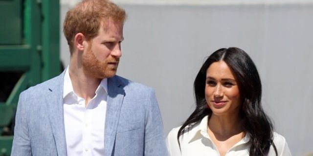 Prince Harry, Duke of Sussex and Meghan, Duchess of Sussex visit a township to learn about Youth Employment Services on October 02, 2019, in Johannesburg, South Africa.