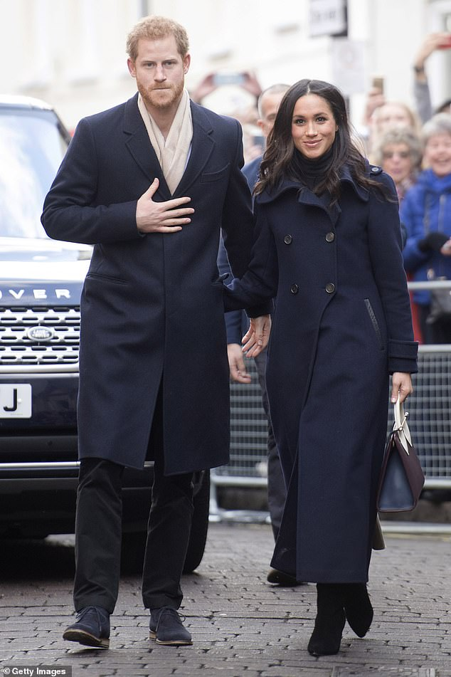 Meghan Markle and Prince Harry (pictured in December 2017) will return to the UK to resume their charity work once lockdown travel restrictions ease, Omid Scobie has claimed