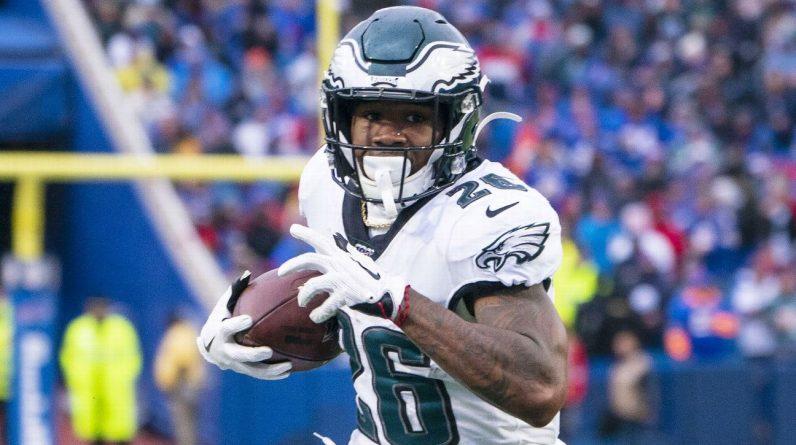 Philadelphia Eagles say running back Miles Sanders is week-to-week with a lower-body injury