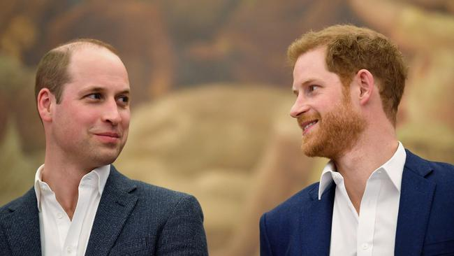 Prince Harry and Prince William publicly reunite for the first time since Megxit