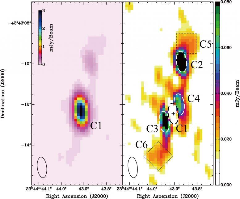 Phoenix Galaxy Cluster Jet Structures