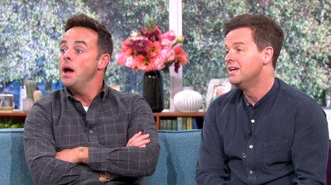 This morning the ant and dec