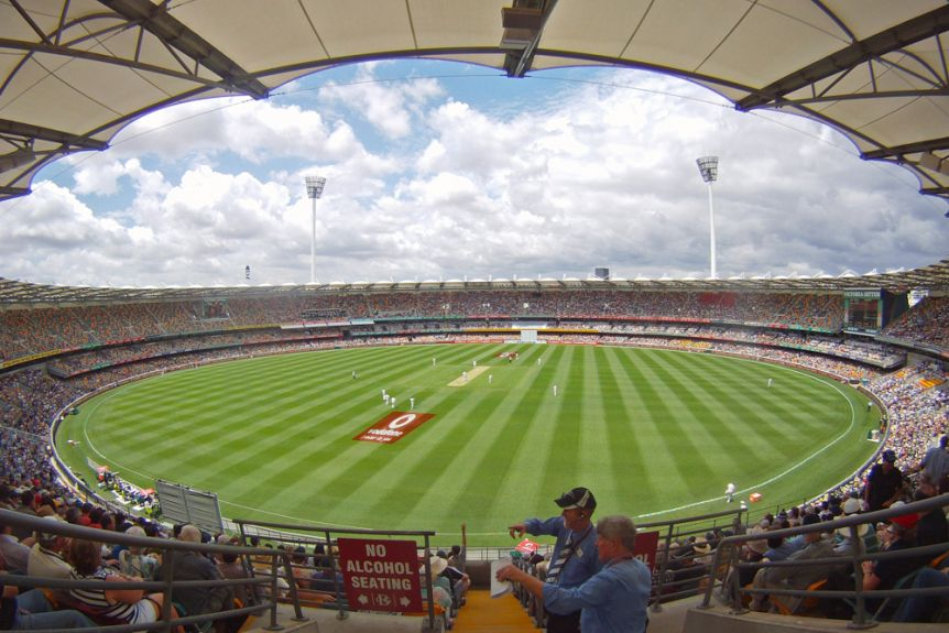 A Test match at the Kappa Stadium in Brisbane.