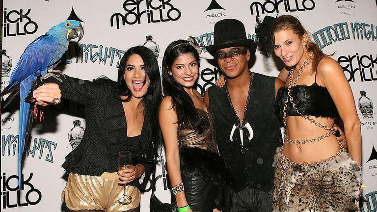 Morillo at a party prior to his Voodoo Nights show in Hollywood in 2010