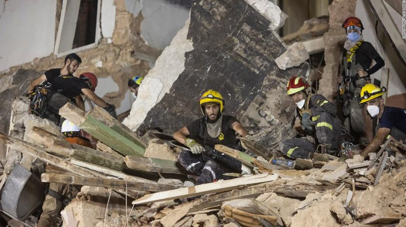 Beirut rescue workers say there are no signs of life in the search for survivors a month after the bombing.