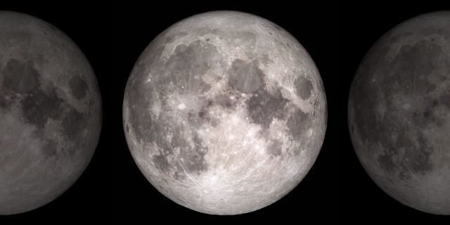 Based on data from NASA's Lunar Reassessment Orbiter spacecraft, this image shows the face of the moon we see from Earth.