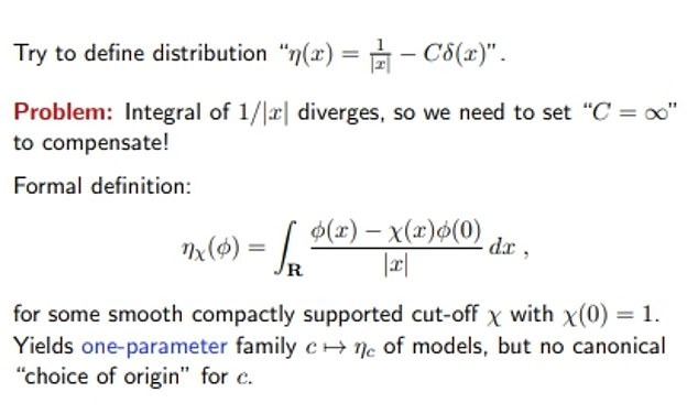 Picture one of the complex equations of the Austro-British professor from his website