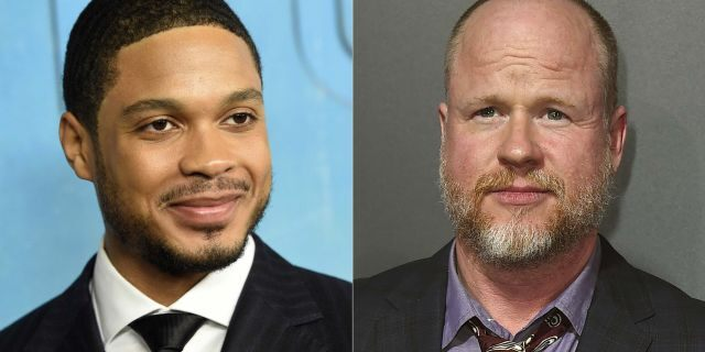 Ray Fisher (left) and Jose Whedon.  (Photo by Jordan Strauss / Invision / AB)