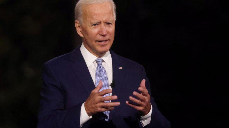 Democratic presidential nominee Joe Biden, speaking on Thursday