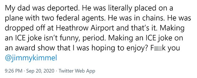One person shared their experience with ICE deportation and exploded with a sense of humor