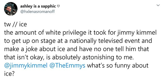 Many Emmy Award viewers have shared their dissatisfaction with Jimmy Kimmel's comedy on Twitter