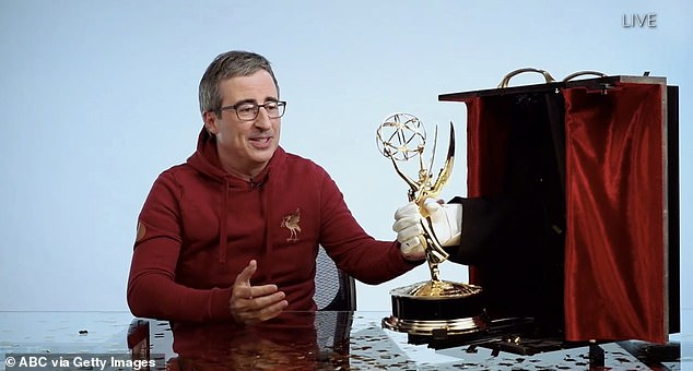 Last week tonight John Oliver won the Emmy Award for Best Variety Dog Series for the last five years in a row