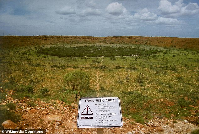 However, the R Banda crater is five times larger than Australia's famous Wolf Creek crater. Wolf Creek was created by a meteorite estimated to have collided with Earth 300,000 years ago