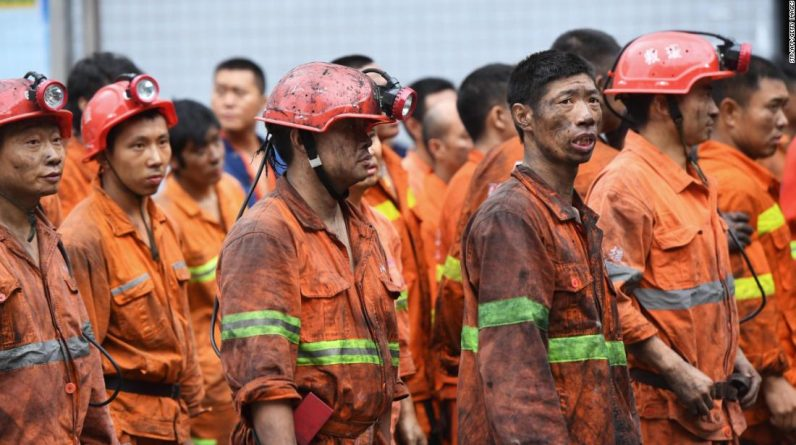 At least 16 people have been killed by carbon monoxide poisoning in China's coal mining accident