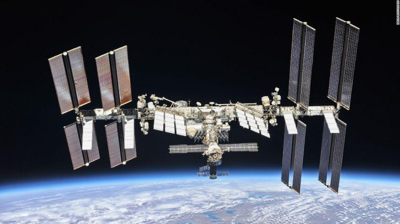 The astronauts are in the International Space Station flight