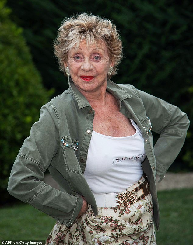 RIP: Belgian actress Annie Corti has died of a heart attack at her home in Vallouris, France, at the age of 92.