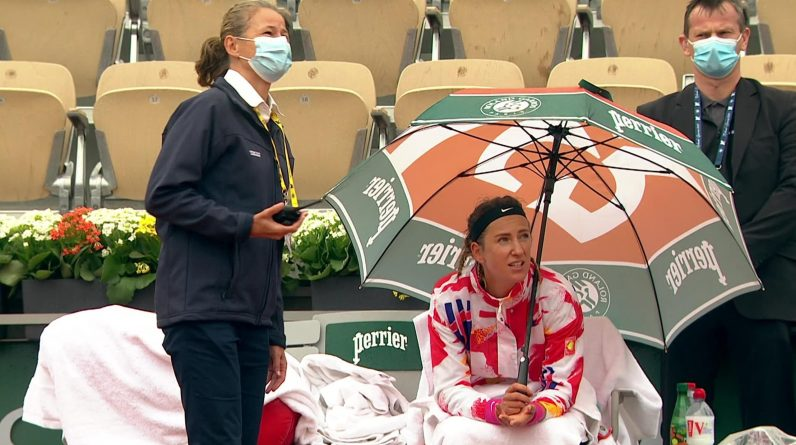 French Open 2020 - Victoria Azarenka and Tanga Kovinic walk 24 minutes