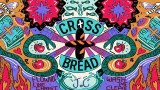 Promo tile for crossfred podcast with caption and bright color religious images and words.