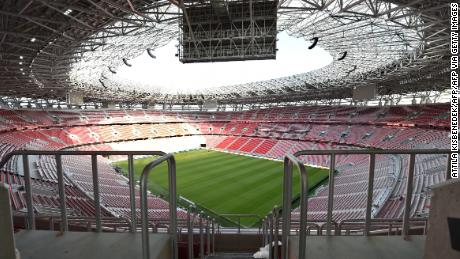 Puskas Arena hosts the Super Cup match between Bayern Munich and Sevilla.