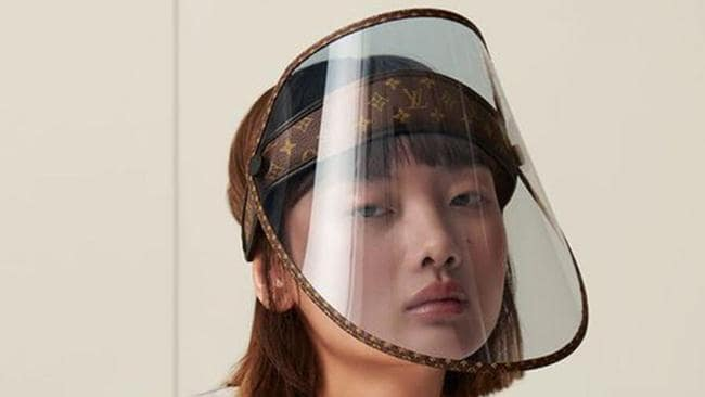 Louis Vuitton's virus-inspired face shield sell for under k 1