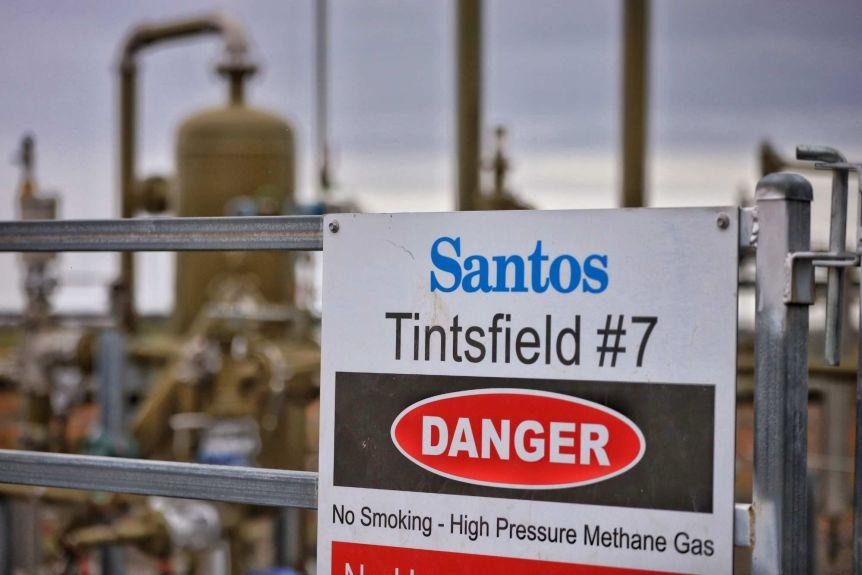 'Danger' sign in methane well near Narabri