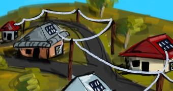 Description of houses in Yakandanda, North Victoria.