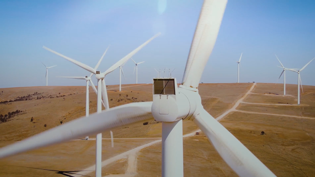 Wind turbines in the Australian outback