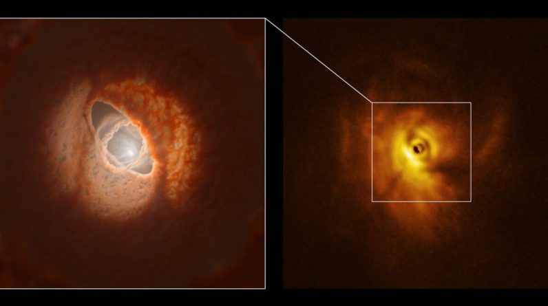 Scientists first dissect a triple-star system in a galaxy to form its planetary disk