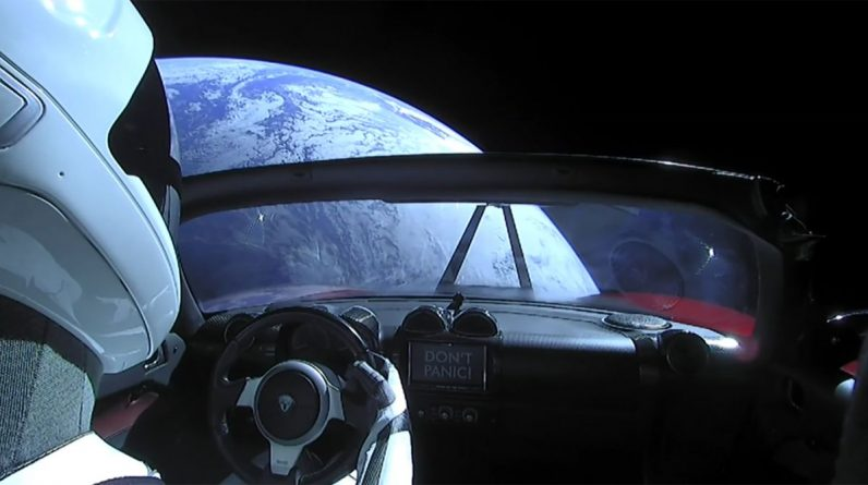 'Starman' crossed Mars in his quick rotting Tesla Roadster