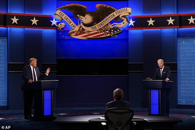 Joe Biden (right) will be tested for the virus on Friday morning after spending Tuesday night on the debate platform from President Donald Trump (left).