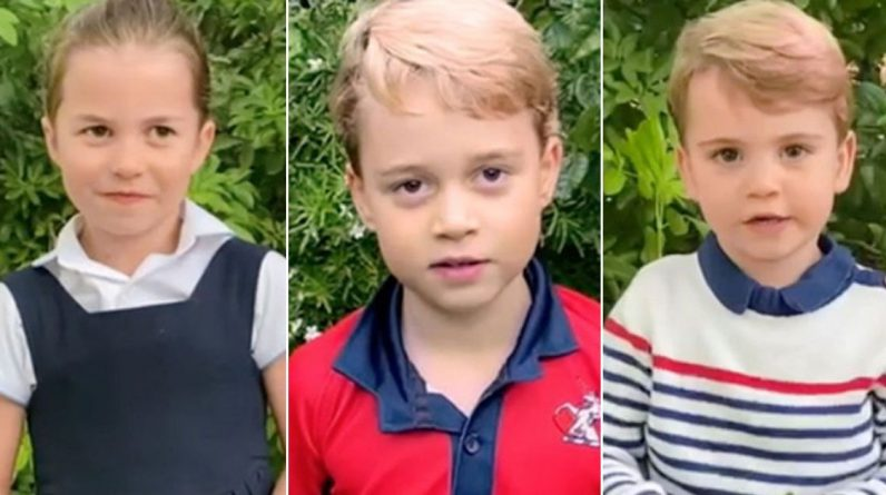 Adorable George, Charlotte and Louise speak on camera while questioning David Attenborough