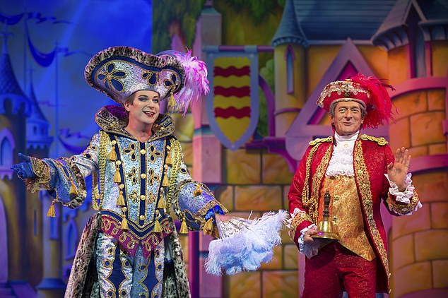 Ponto will return to the London Palladium at Christmas.  Oh yes it happens!  Picture above the stage with Julian Clary Nigel Havers.  Claire starred in four palladium laugh-one-tones