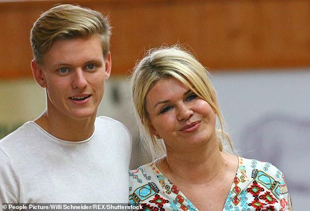 Schumacher filmed JNR with his mum Corinna at an event in Switzerland in 2017