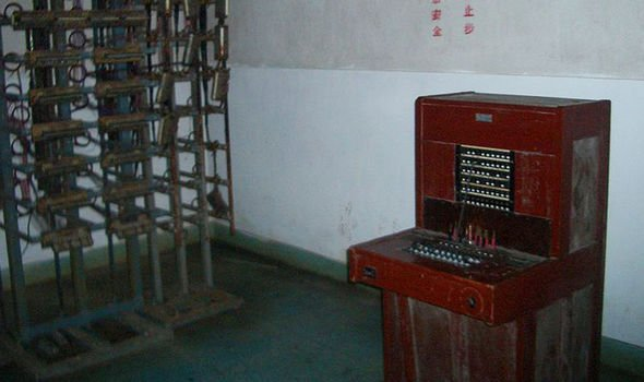 A communication center within the mines