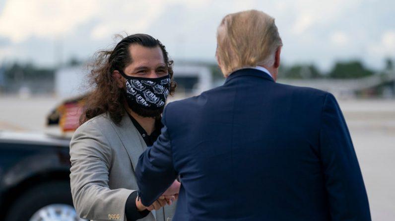 UFC's George Masvidal Donald Trump in Florida
