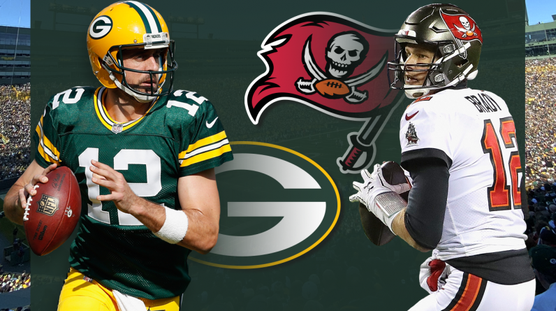 Rodgers led the Bucks 31-10 as Brady squared off