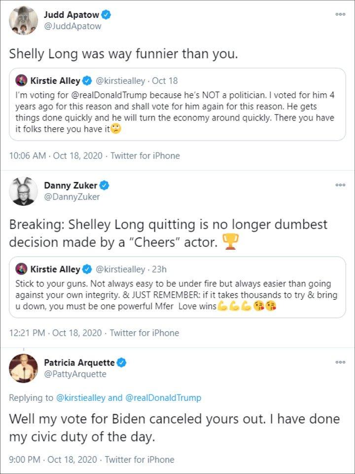 Kirsty Alley's tweet