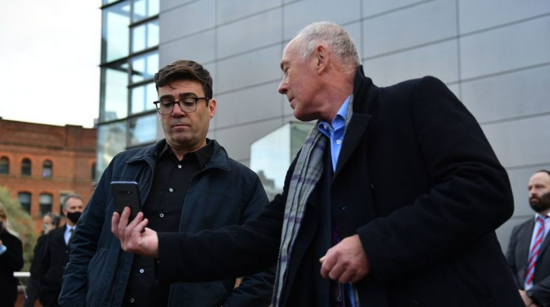 """""""Being honest is brutal"""" - Andy Burnham learns the new corona virus guidelines live on TV"""